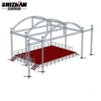 Concert Lighting roof system stage frame tube truss structure