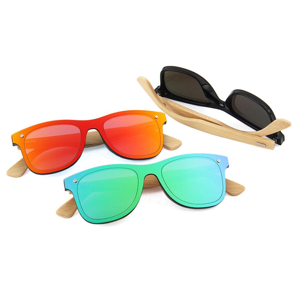 Trendy Shade Women Bamboo Sunglasses 2021 2020 Wood Sunglasses Mens Polarized, Custom colors