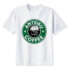 Японская Футболка с принтом Tokyo Ghoul, футболка с изображением вурдалаков, одежда Ken Kaneki, футболка с коротким рукавом Tokyo Ghoul(Китай)