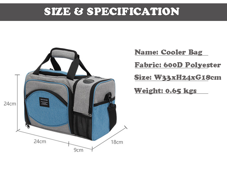 Middle Capacity Camping Outdoor Lunch Bag insulated for Travel Picnic Outdoor Life Ice Pack frozen food delivery Cooler Bag