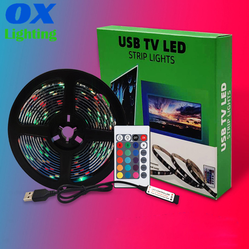 1M 2M 3M 4M 5M USB Led Strip 5050  LED Backlight TV 5V USB Powered Led Strip FOR TV Computer
