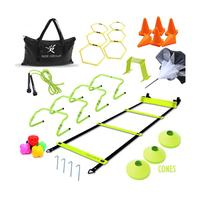 Custom Speed Soccer Football Agility Ladder Training Set Equipment Cones Hurdles Parachute