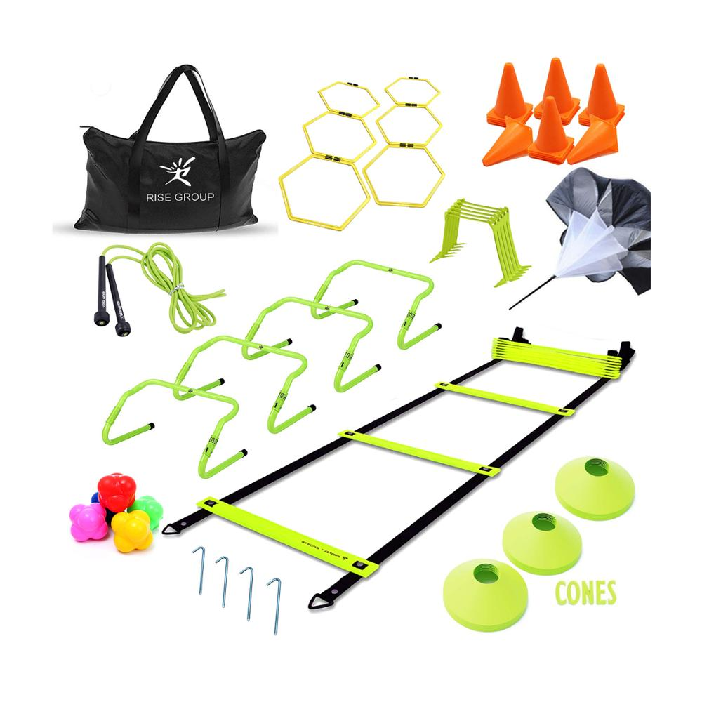 Custom Speed Voetbal Agility Ladder Training Set Apparatuur Kegels Horden Parachute