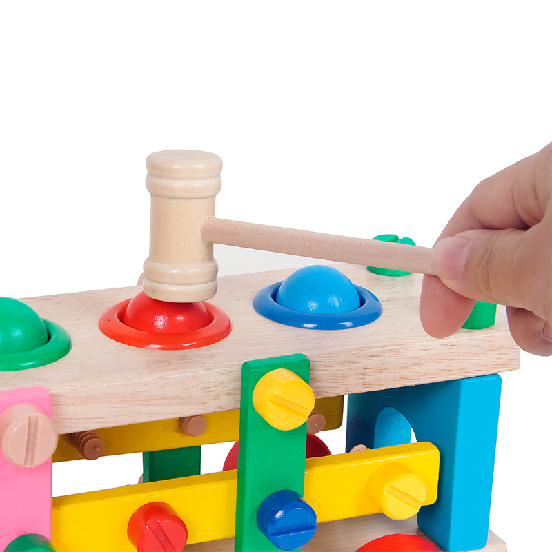 Wholesale Wooden disassembly Nut Screw Toys Car Detachable Truck for Kids Amazon hot sale tool box toy set for kids