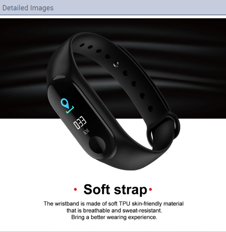 2020 cheapest smart wristband health smart bracelet M3 with Heart rate monitor blood pressure fitness tracker M3 smart band