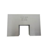 Factory Standard AWS-Type Block Carbon Steel Inch/Metric Ultrasonic Calibration Block DS Block