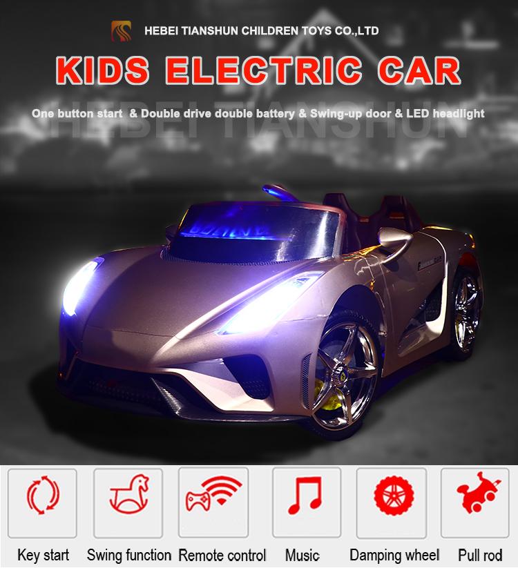 Beliebte design high speed 4 räder kinder elektrische auto mit 2 sitz