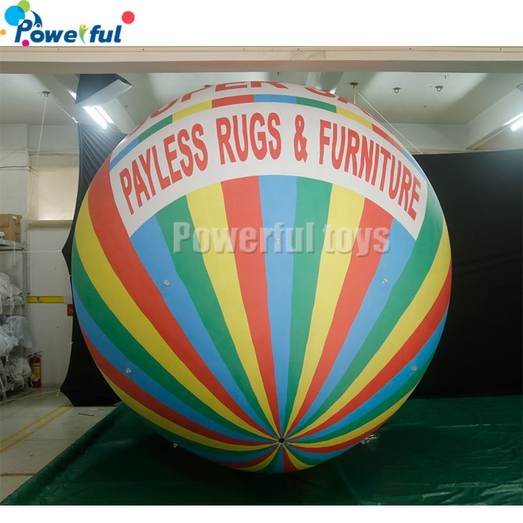 Advertising Hot Air Shape Inflatable helium balloon with Custom printing