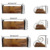 Rustic Wood Shelf with Metal Bracket for Kitchen, Living Room, Bedroom, Office Room