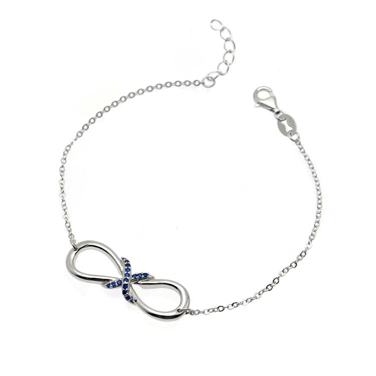 Korea Sapphire Gem stone Limitless personalisable bracelets for women jewelry