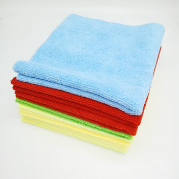 China wholesale microfiber cleaning towels, sew edge , edgeless all working car cleaning towels