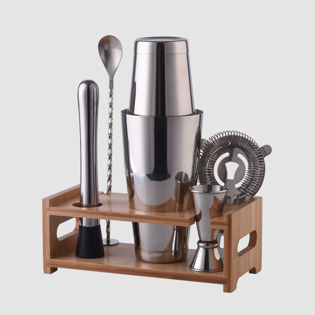 Factory Direct sale 800ml metal stainless steel boston profesional home bartender bar cocktail shaker set
