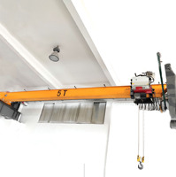 Factory use 5ton hoist crane travelling motor bridge electric hoist overhead crane