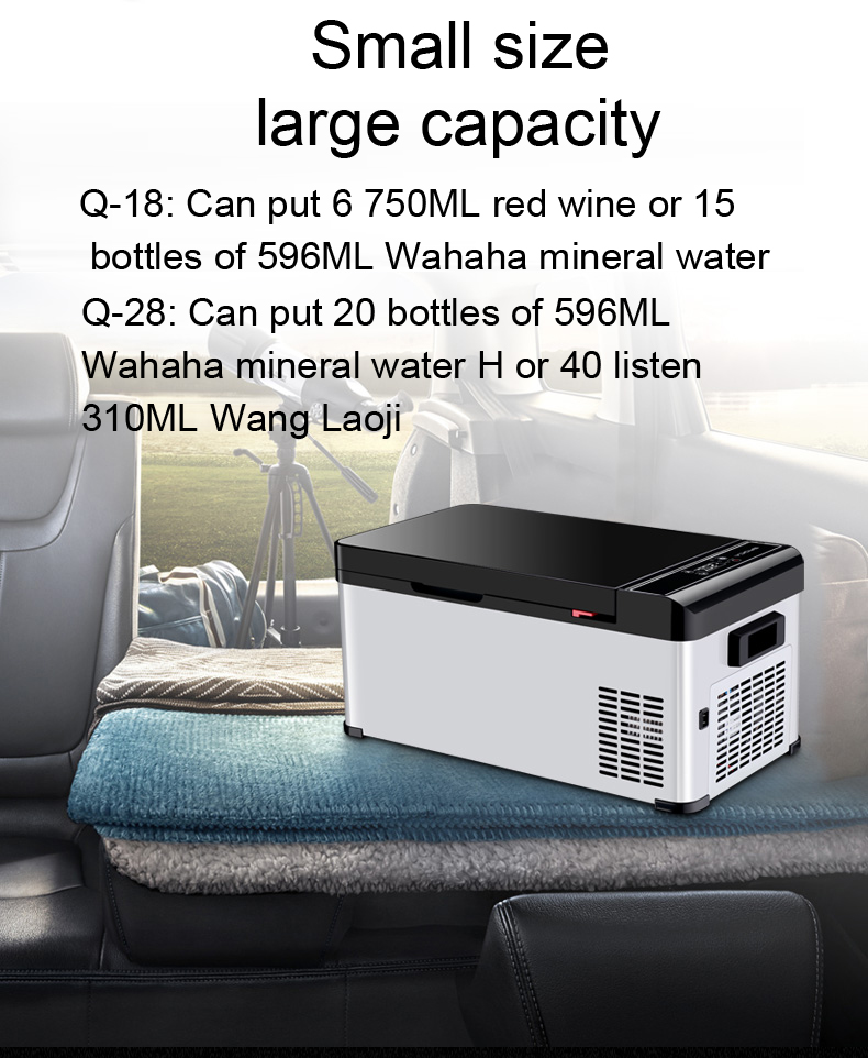 DC12V/24V Compressor Car fridge/Mobile fridge freezer for camping and household use