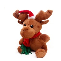 Christmas gifts hot sale new style lovely plush Santa Claus toy plush deer