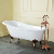 "54"" CAST IRON SAFE & ANTI-SLIDE CAST SLIPPER BATHTUB WITH OIL RUBBED BRONZE FEET AND 7"" FAUCET DRILLINGS"