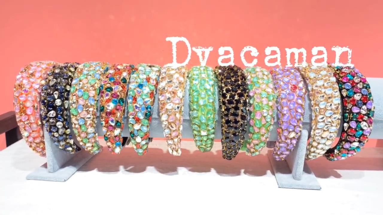 Dvacaman設計され 12 色宴会グリッターラグジフルクリスタルラインストーンブリンブリンスポンジワイド女性のための