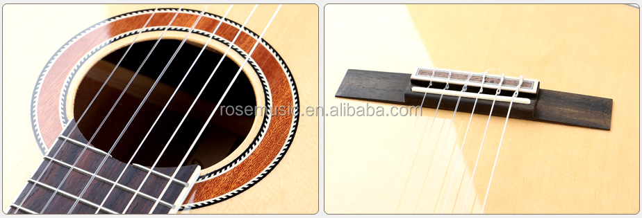 4/4   Chinese manufacturer oem  musical instrument  classical guitar