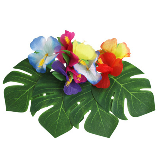 Kunstmatige Palm Bladeren Hawaiian Party Decoraties Tropische Plant Faux Bladeren met Stem voor Tropische Party Decor