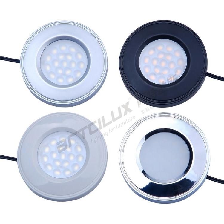 Factory direct sale Artcilux brand round white finish recessed led cabinet light , EU AU USA standard , 100% Guarantee