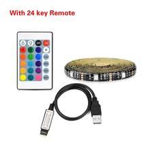 USB питание RGB кухонный шкаф светодиодные лампы для шкафа SMD 5050 RGB Светодиодная лента HD ТВ Настольный экран тыловая подсветка(Китай)