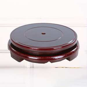 Round wooden base tray can be placed in vases wine bottles fish tanks handicraft 6CM-60CM optional