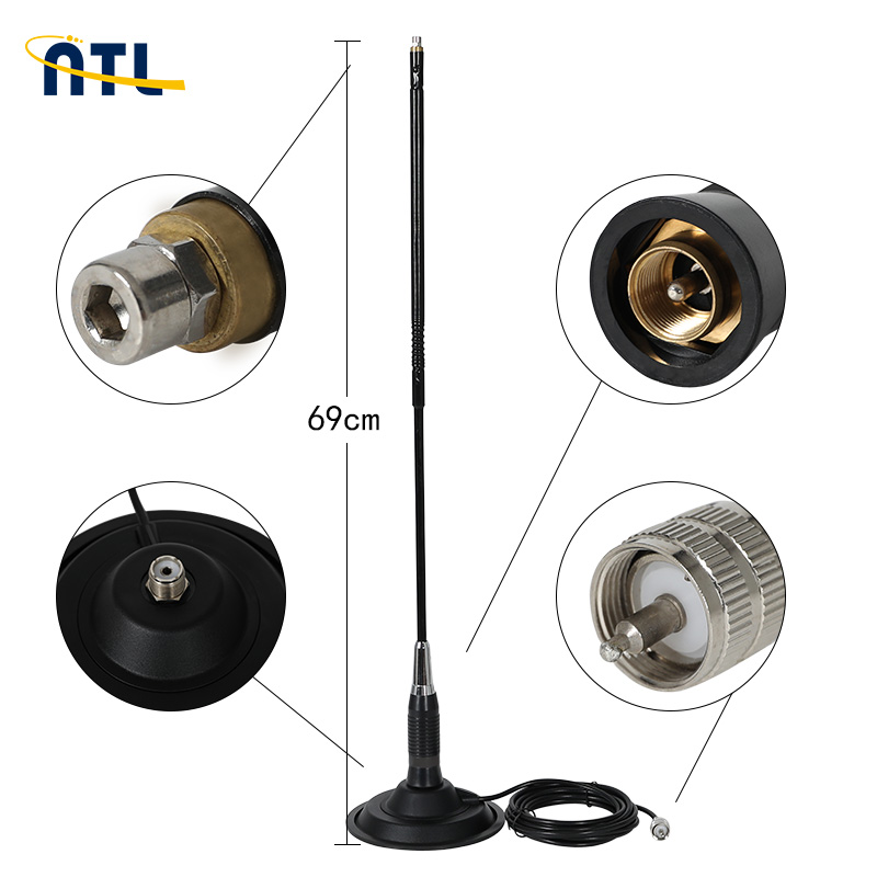 Factory CB 50 MAG Magnetic Base 27MHz Mobile Car CB <strong>Antenna</strong> For Communication