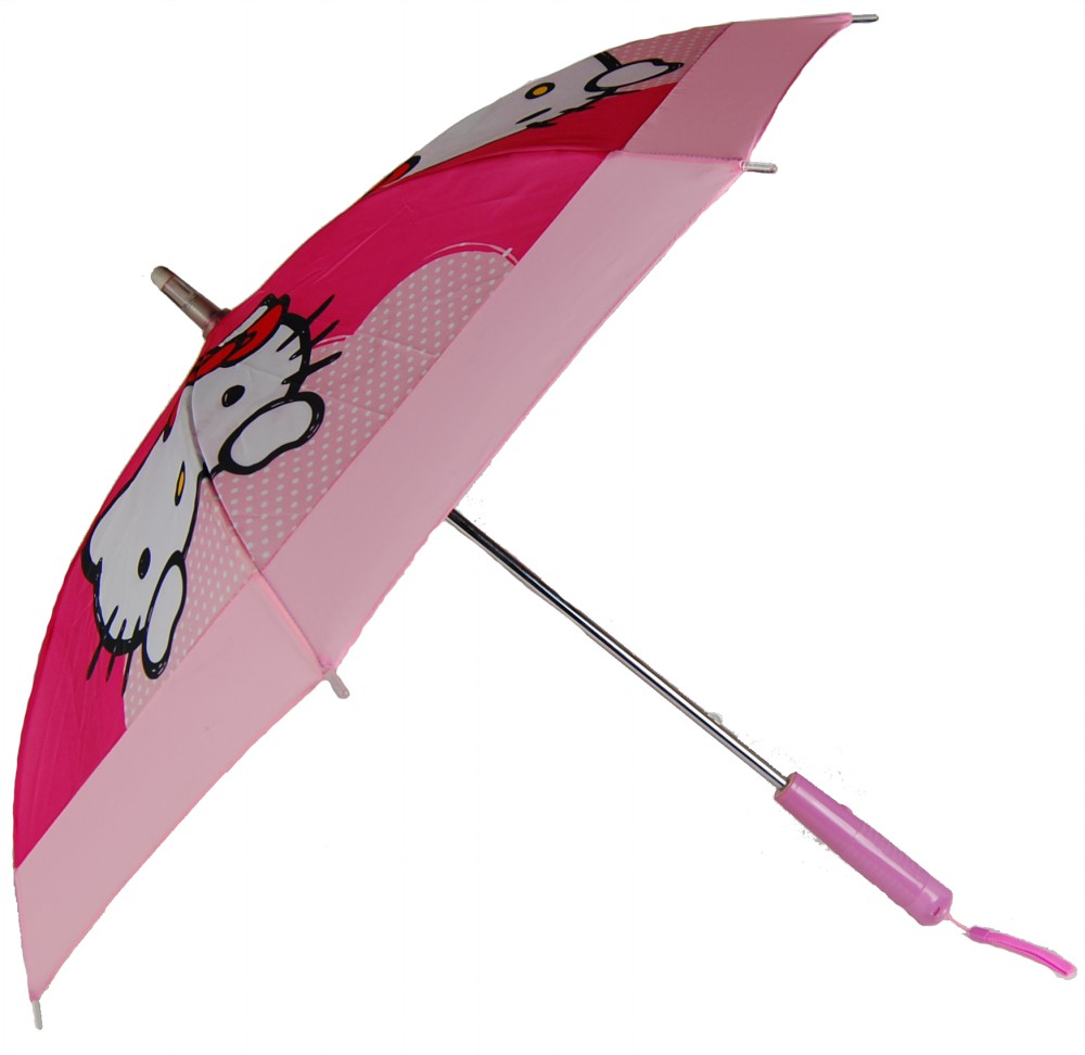 Fashionable Custom Printing Hello Kitty LED Kids Umbrella