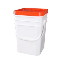 Square plastic bucket 20L industry pail for pack bacteria flour