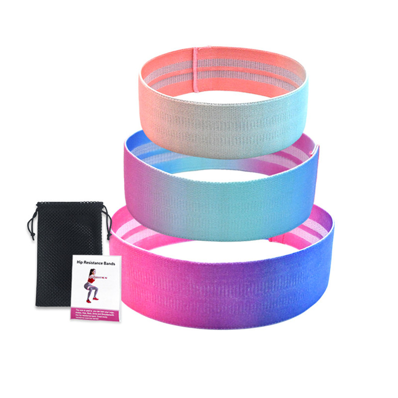 Bodytrainer Custom Silicone Logo Custom Logo Gym Exercise Loop cotton fabric Pull Up Assist long Resistance Bands set
