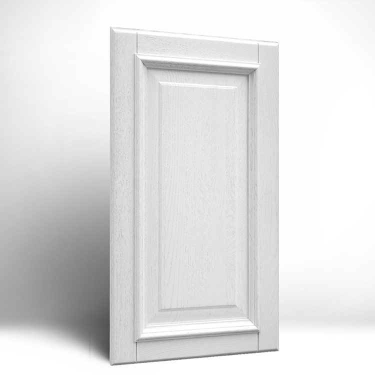 Melamine Molded Door For Residential House 4 Panel Grained Internal Foreign Wood Doors