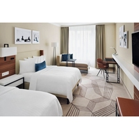 Commercial Used Hampton Inn Hotel Furniture Wooden Bedroom Furniture Bed Room Set