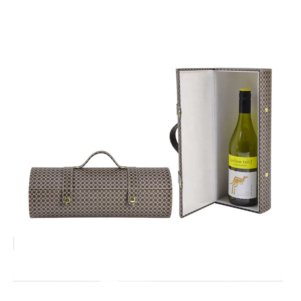wholesale gift bag leather bottle wine carry box