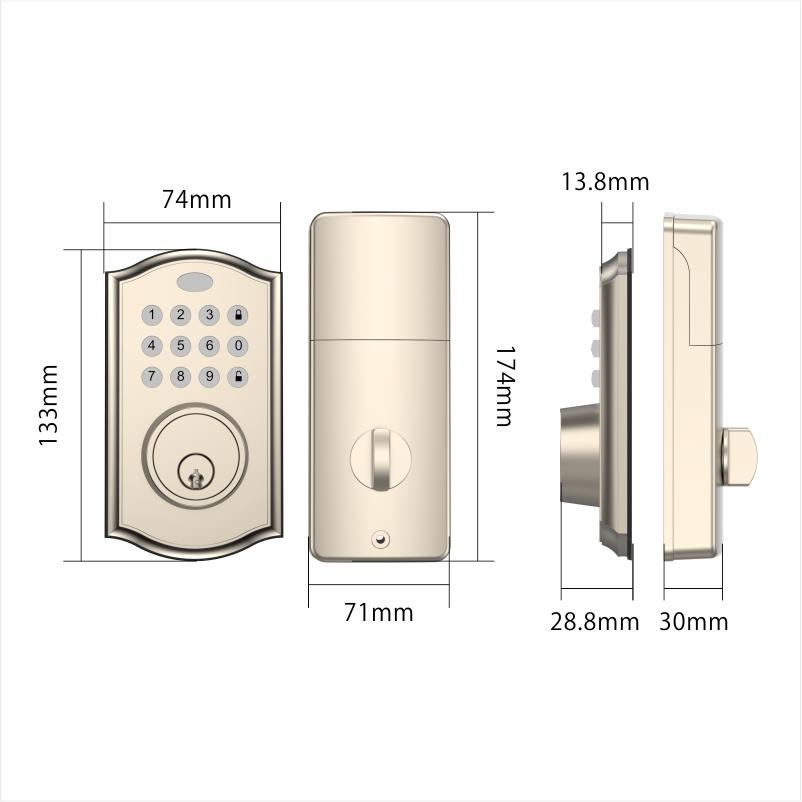 TUYA Блокировка Американский Wifi контролируемый дэдболт отпечатков пальцев умный БЕСКЛЮЧЕВОЙ дверной замок