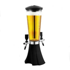 2 taps 3 liter plastic beer tower beer dispenser for sale