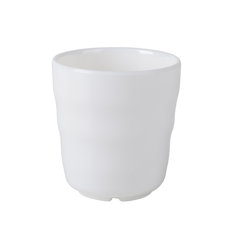 White Plastic Melamine Tea Solo Drink Cups Stackable