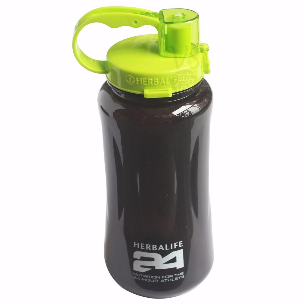 1L/2L काले बड़े 1000 ml/2000 ml फैशन पोर्टेबल हर्बालाइफ पोषण कस्टम हिला खेल पानी की बोतल