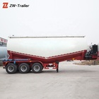 Low Price 3axle 55CBM Cement Bulker Tanker Trailer For Sale