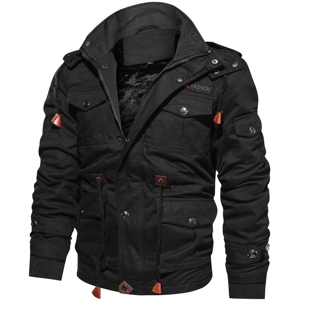 2020 High Quality Military Mens Pilot Jacket Winter Fleece Jackets Warm Thicken Outerwear Plus Size Jacket