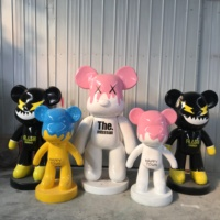 custom new Design made fiberglass bearbrick sculptures handmade artificial resin bear sculptures for Sale 2019