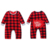 Buffalo Plaid 6-24 Months Toddler Long Sleeve Footed Romper Santa Baby Christmas Romper