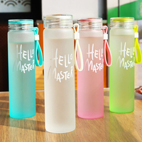 Custom colorful Fashionable Empty portable gradient BPA Free Glass Water Bottle