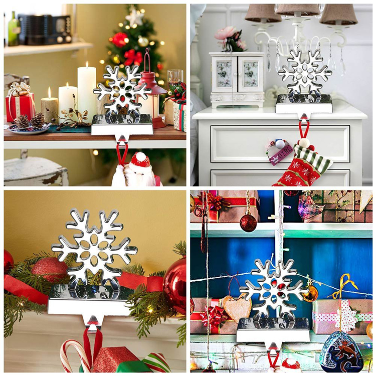 Christmas 2020 New Hot Items Gifts 3D Snowflake Christmas Stocking Holder