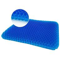 Gel Seat Cushion Double Thick Egg Seat Cushion with Non-Slip Cover Breathable Honeycomb Pain Relief Egg Sitting Cushion