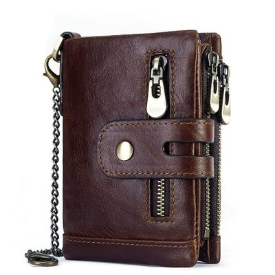 New anti-theft three-fold multi-card pocket gents designer <strong>wallet</strong> for men leather
