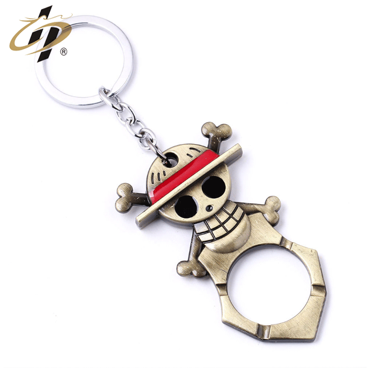 Promotional gift customize zinc alloy metal 3d bottle opener keychain