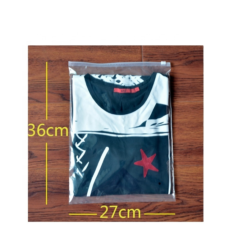 custom logo Plastic clear slider zip zipper bag clothing packing bags with zipper lock