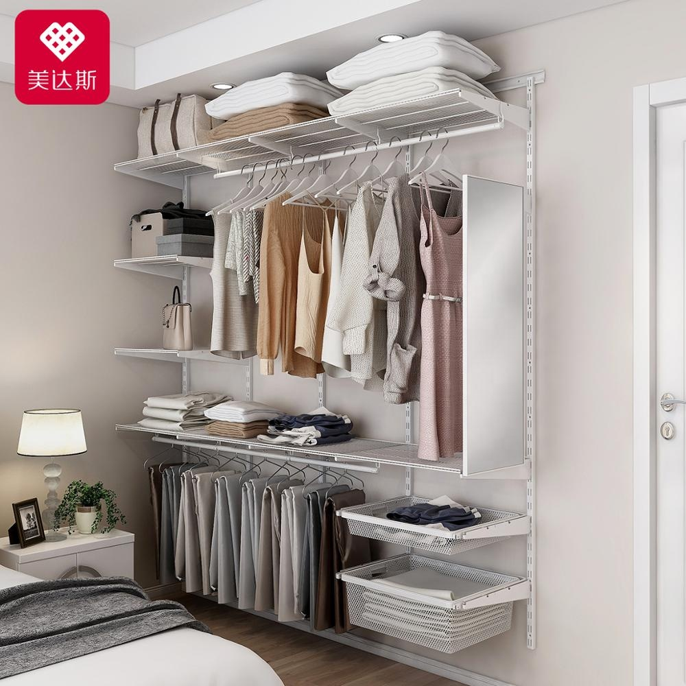 High Quality Storage Cabinet Assembly Steel Rail Wire Wardrobe Retractable Closet Shelving Organization Line Buy Rail Wire Closet Shelving Closet Organization Retractable Clothes Line Product On Alibaba Com