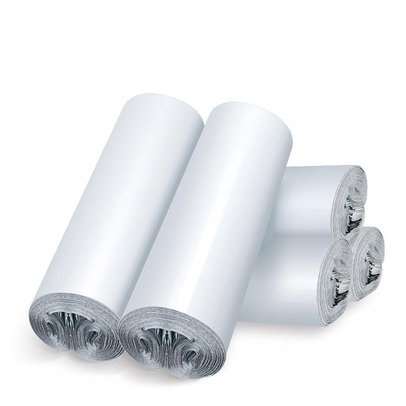 Logo Personnalisé blanc En Poly En Plastique Étanche Sacs D'expédition De Courrier