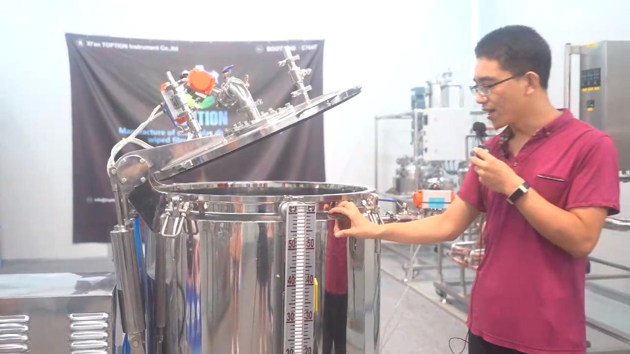 TOP-C50 अपकेंद्रित्र चिमटा 50lbs बायोमास सन शराब निष्कर्षण मशीन